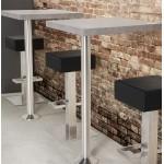 Design swivel bar stool OISE rotary (black)