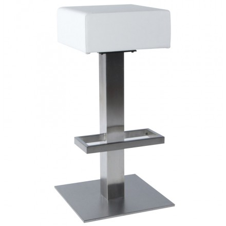 tabouret de bar design oise rotatif blanc. Black Bedroom Furniture Sets. Home Design Ideas
