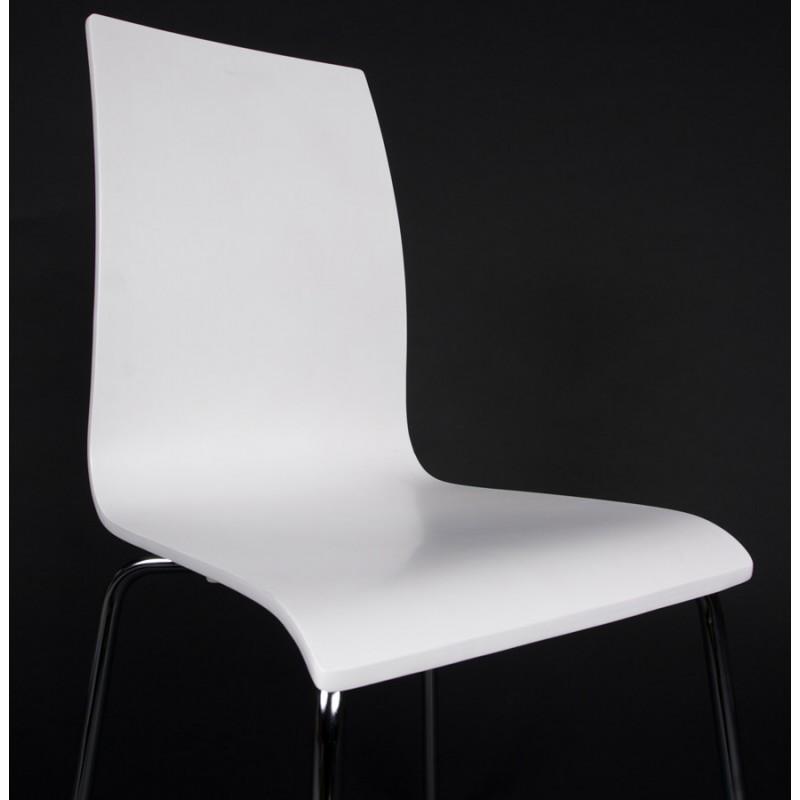 Chaise polyvalente OUST en bois ou dérivé et métal chromé (blanc) - image 16688