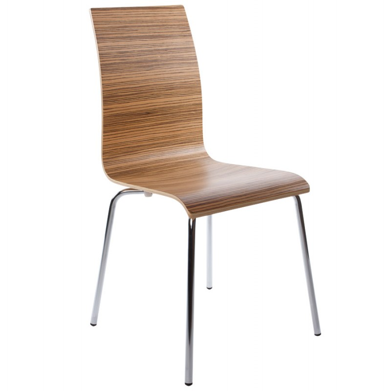 OUST Versatile Chair wood or derived and chrome metal (zebrano) - image 16692