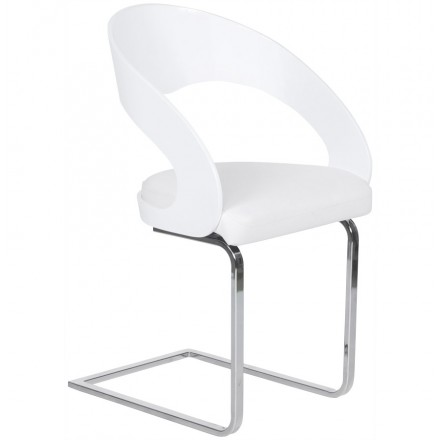Chaise contemporaine LOING (blanc)