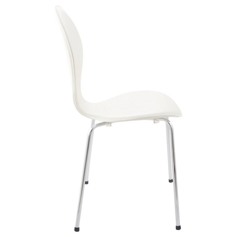 chaise contemporaine arroux empilable blanc. Black Bedroom Furniture Sets. Home Design Ideas