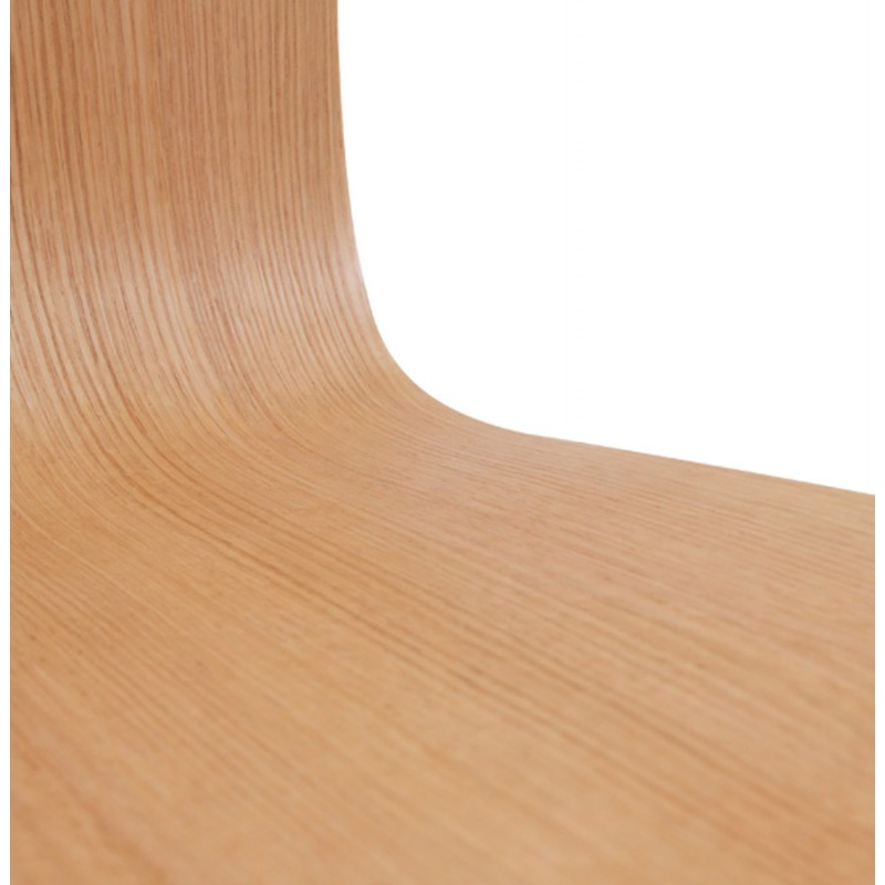 Sedia contemporaneo BLAISE in legno e metallo cromato (legno naturale) - image 16824