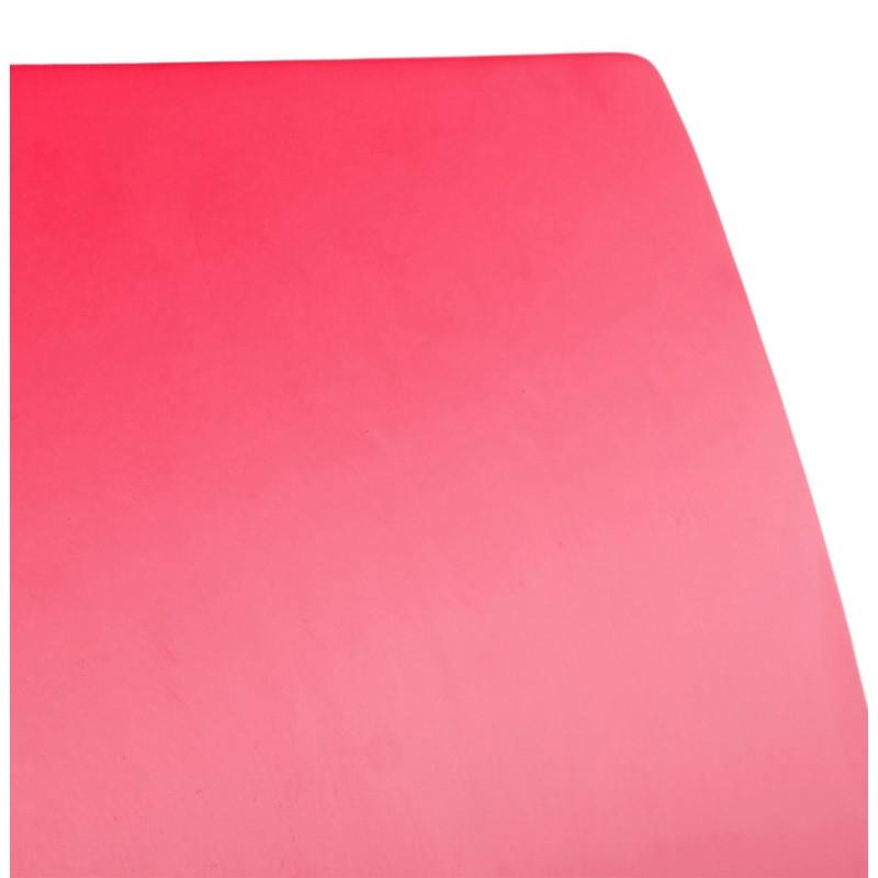 Sedia versatile legno OUST e metallo cromato (rosso) - image 16883