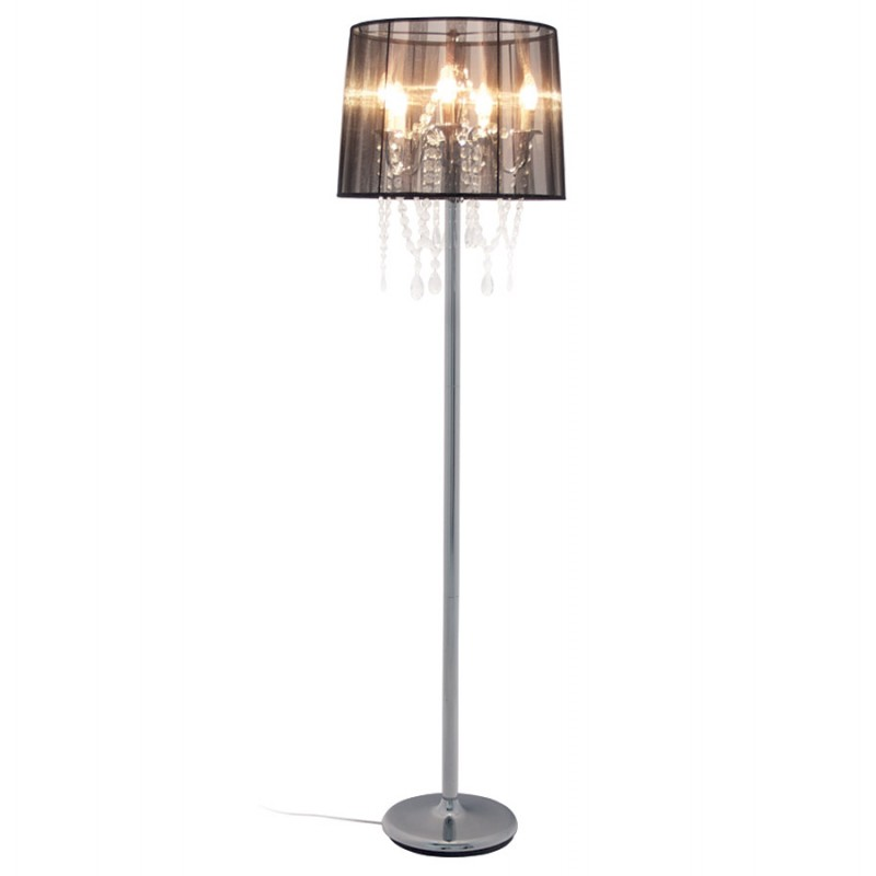 MERION design floor chrome steel lamp (black)  - image 16925