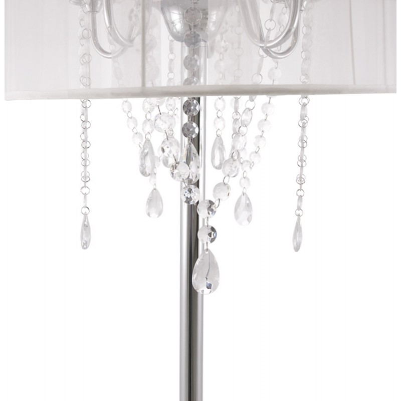 MERION design floor chrome steel lamp (white) - image 16938