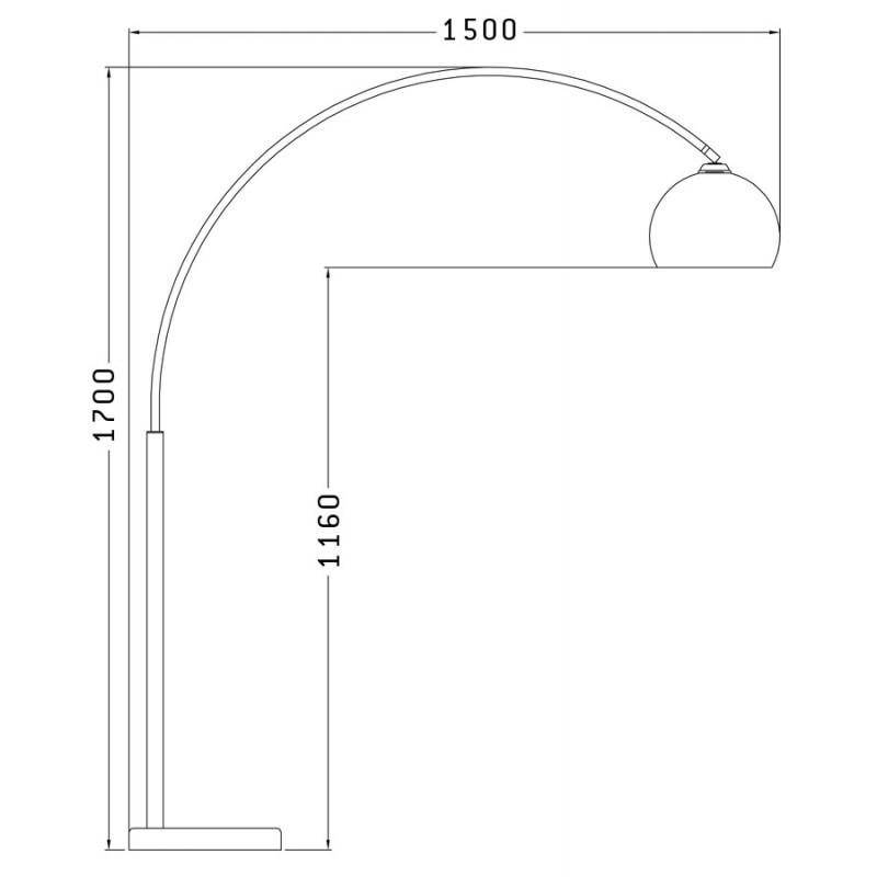 Lampe sur pied design MOEROL SMALL CHROME en acier chromé (moyenne et chromé) - image 16952