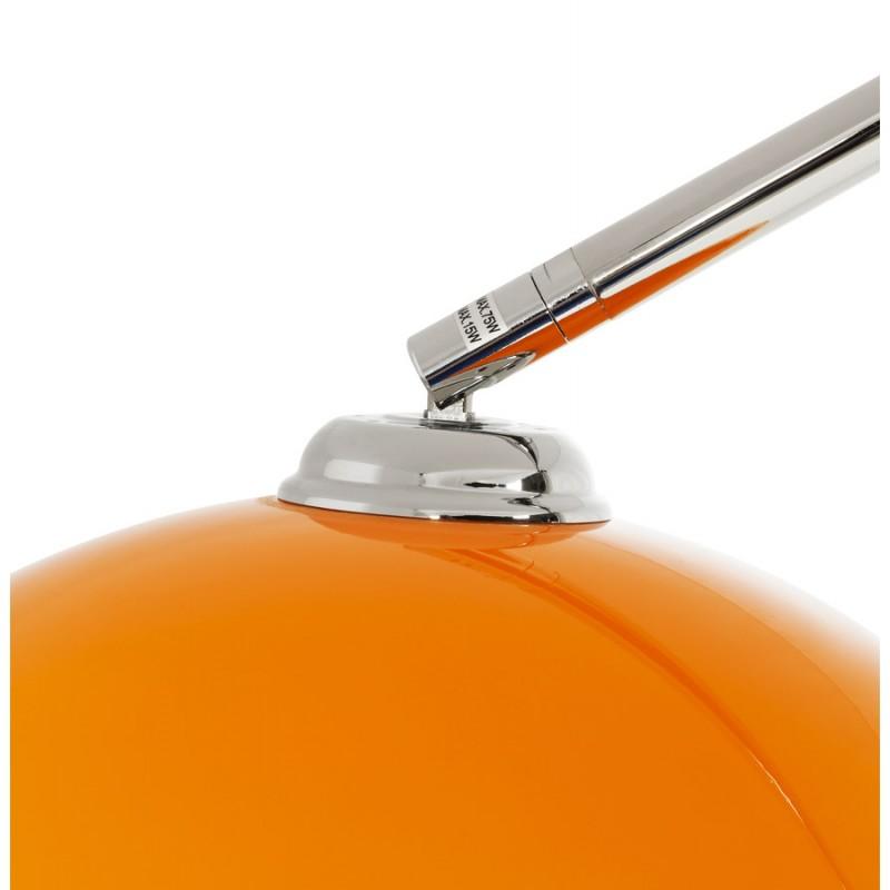 Lampe sur pied design MOEROL SMALL en acier chromé (moyenne et orange) - image 16955