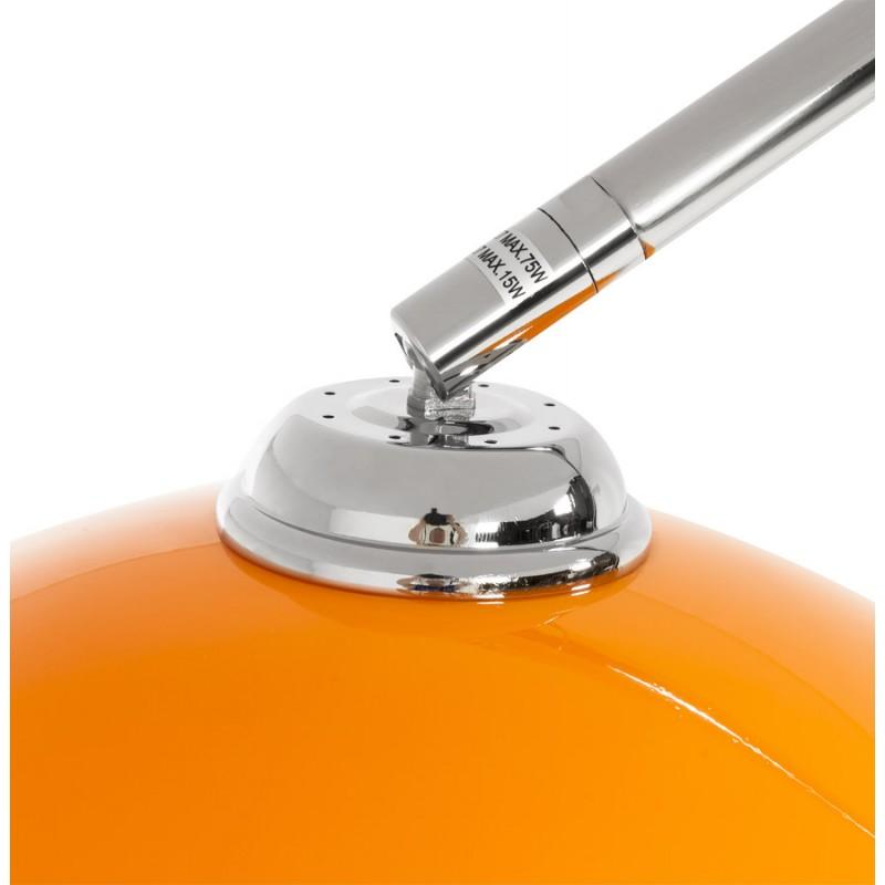 Lampe sur pied design MOEROL SMALL en acier chromé (moyenne et orange) - image 16956