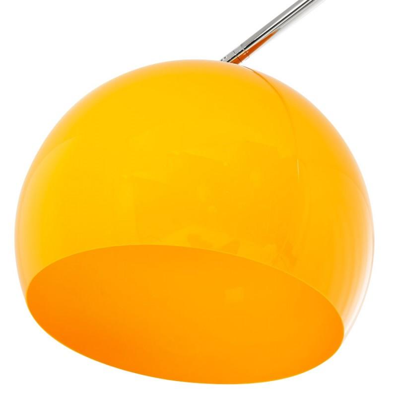 Lampe sur pied design MOEROL SMALL en acier chromé (moyenne et orange) - image 16958