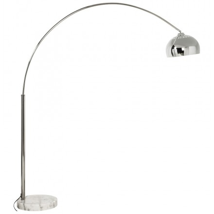 MOEROL XL CHROME Design floor chrome steel lamp (great and chrome)