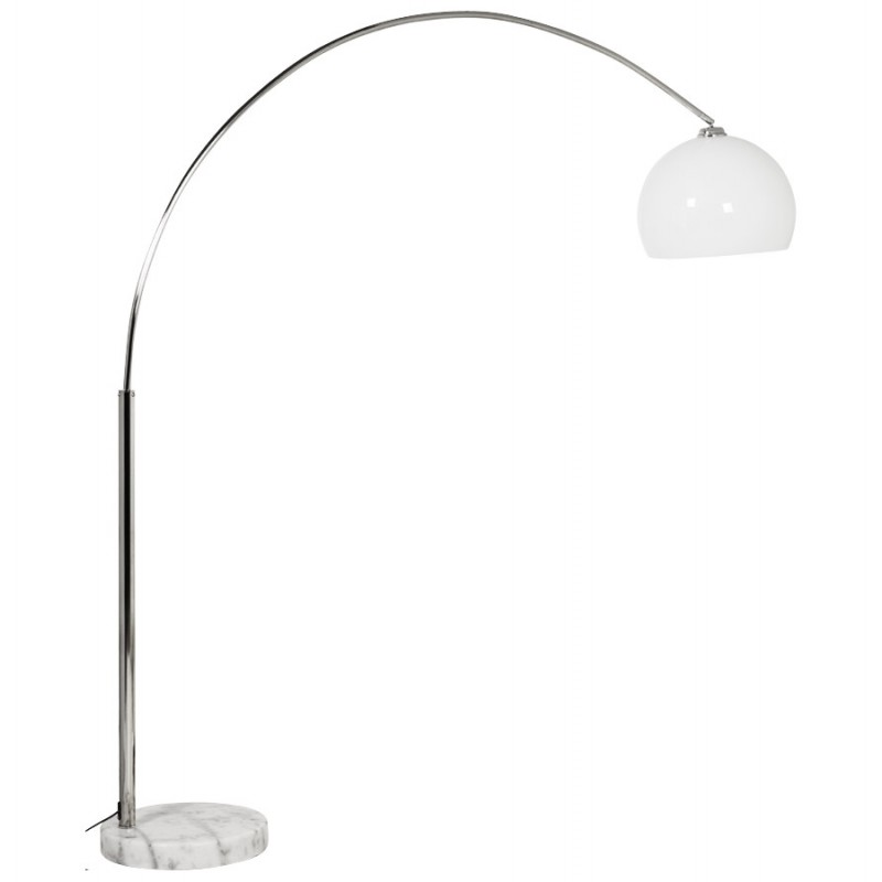 MOEROL XL design floor chrome steel lamp (large and white)  - image 17010