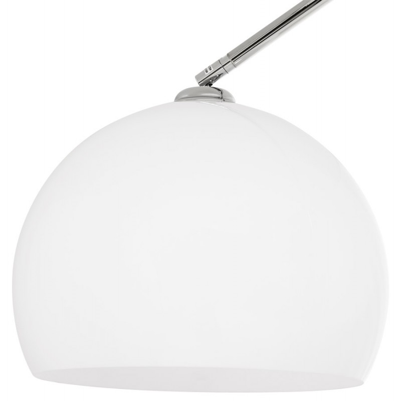MOEROL XL design floor chrome steel lamp (large and white)  - image 17014