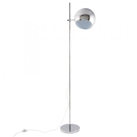 QUETZAL design floor chrome steel lamp (chrome)
