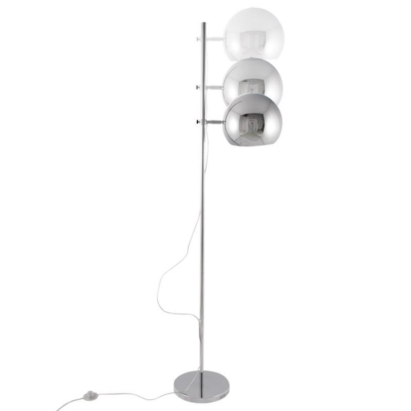 Lampe sur pied design QUETZAL en acier chromé (chromé) - image 17024