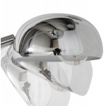 Lampe sur pied design 5 abat-jours ROLLIER en acier chromé (chromé)