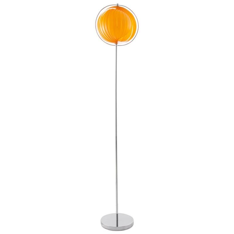Lampe sur pied design BARBICAN BIG en acier chromé (orange) - image 17057