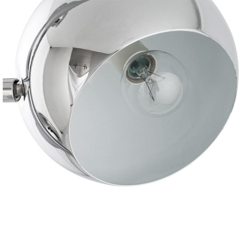 lampe sur pied design 3 abat jours tangara en acier chrom. Black Bedroom Furniture Sets. Home Design Ideas