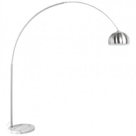 Floor lamp design WILSON brushed steel (brushed steel)