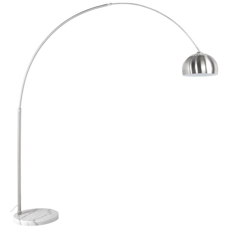 Lampe sur pied design WILSON en acier brossé (acier brossé) - image 17089