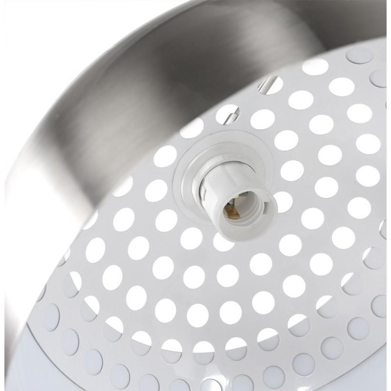 Lampe sur pied design WILSON en acier brossé (acier brossé) - image 17091