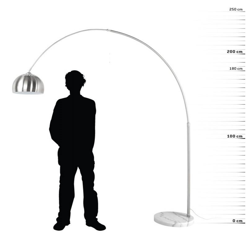 Lampe sur pied design WILSON en acier brossé (acier brossé) - image 17094