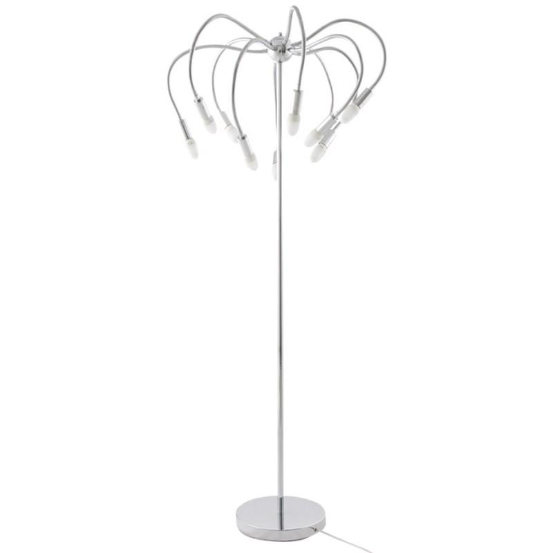 Lampe sur pied design 10 bras flexibles ROCHE en acier chromé (chromé) - image 17099