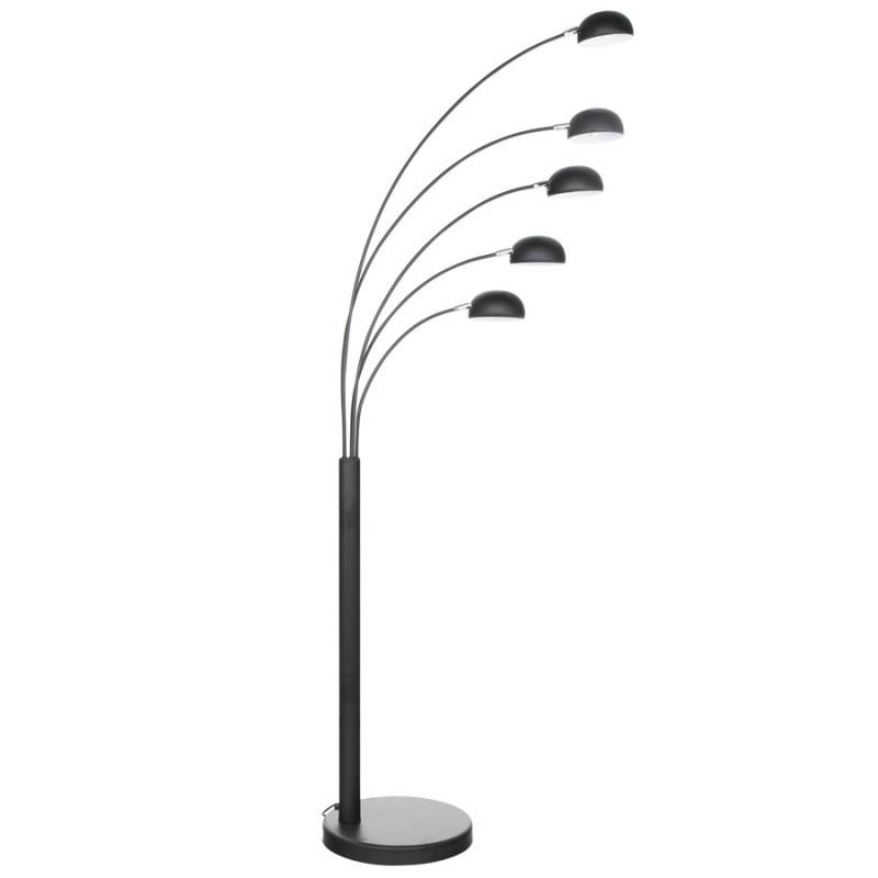 Lampe sur pied design 5 abat-jours ROLLIER en métal peint (noir) - image 17127