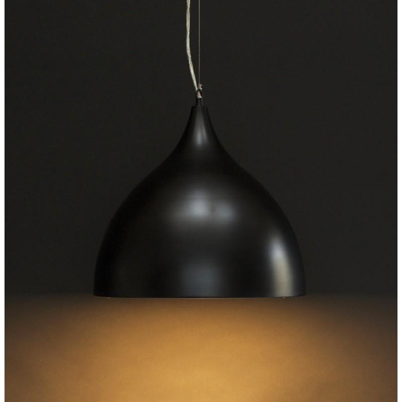 Lampe à suspension design PAON en métal (noir) - image 17168