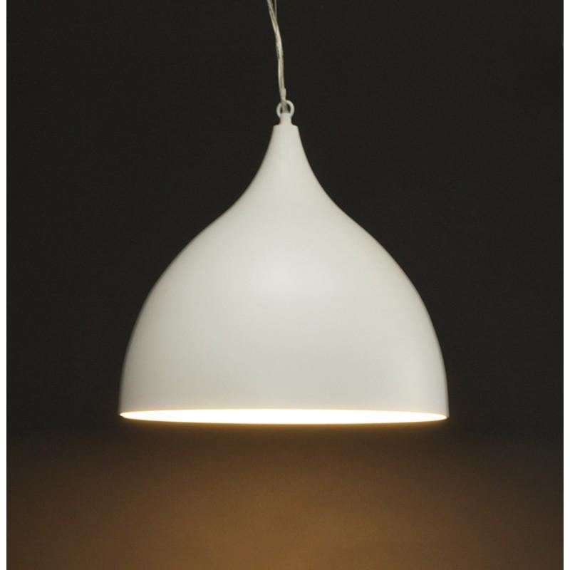 Lampe à suspension design PAON en métal (blanc) - image 17174