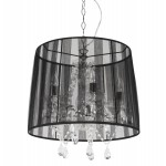 ALOUETTE (black) fabric Lampshade hanging lamp