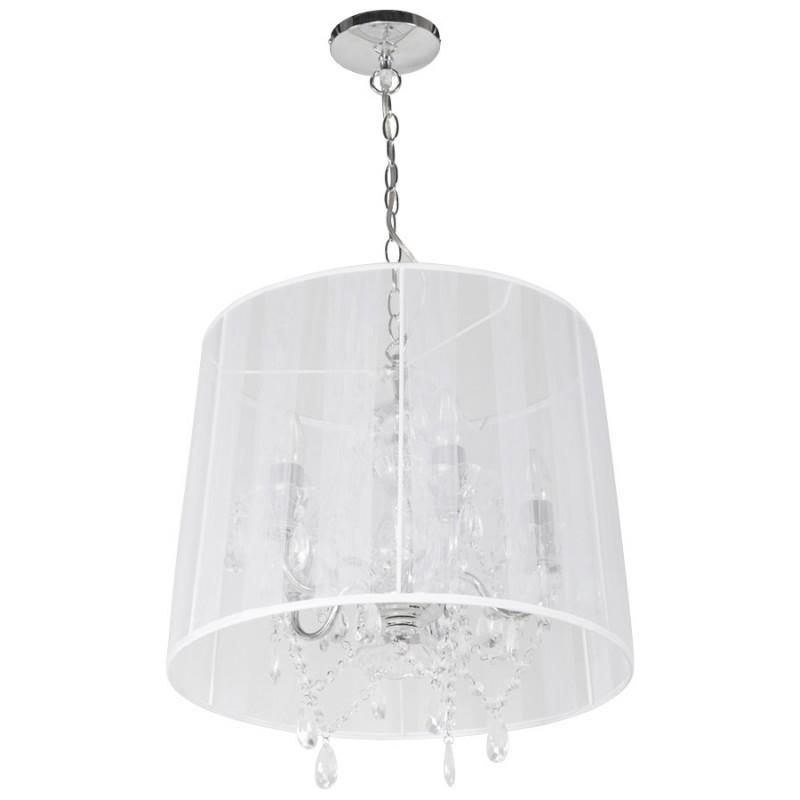 Lampe à suspension design ALOUETTE en tissu (blanc) - image 17193