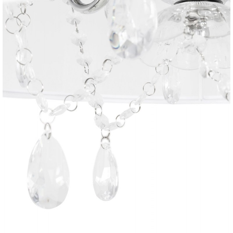 Lampe à suspension design ALOUETTE en tissu (blanc) - image 17197