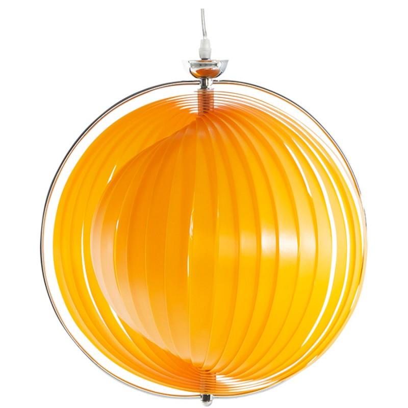 Lampe à suspension design MOINEAU en métal (orange) - image 17208