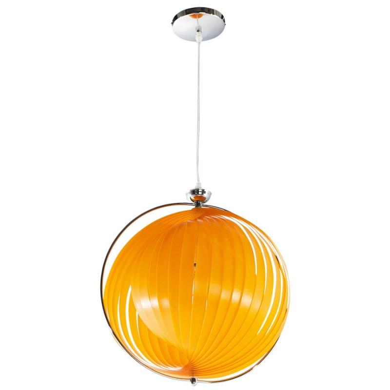 Lampe à suspension design MOINEAU en métal (orange) - image 17210