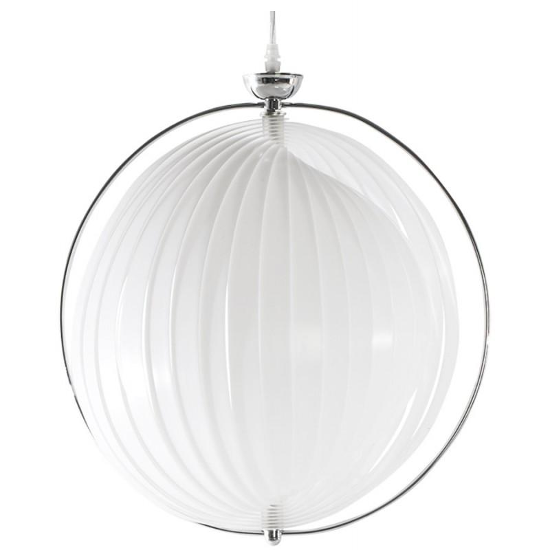 Lampe à suspension design MOINEAU en métal (blanc) - image 17216