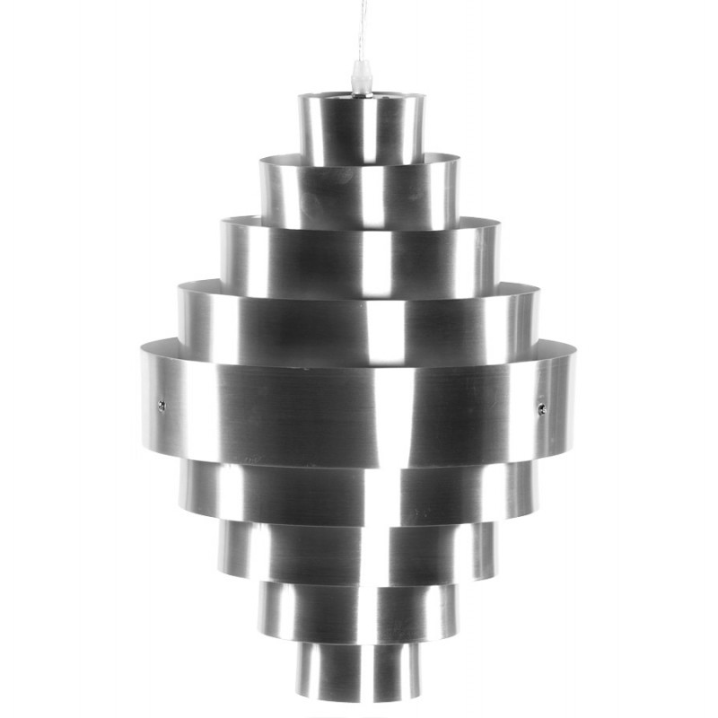 Lampe à suspension design ALQUE en métal (argent) - image 17224