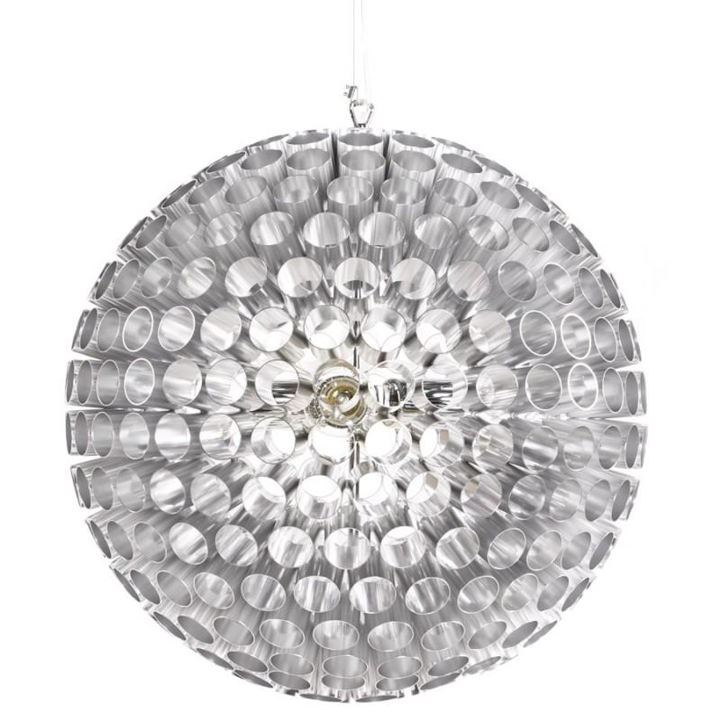 Lampe à suspension design APALIS en métal (argent) - image 17234