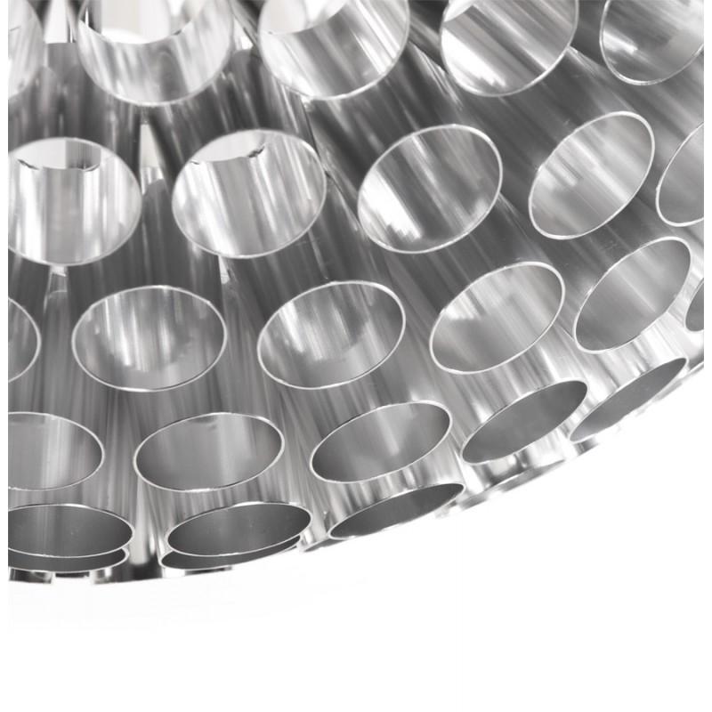 Lampe à suspension design APALIS en métal (argent) - image 17236