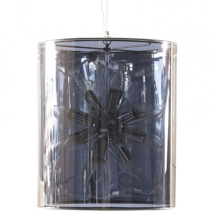 Suspension design ARA metal lamp (transparent)