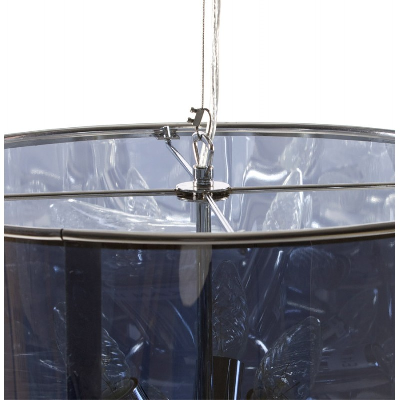 Lampe à suspension design ARA en métal (transparent) - image 17245