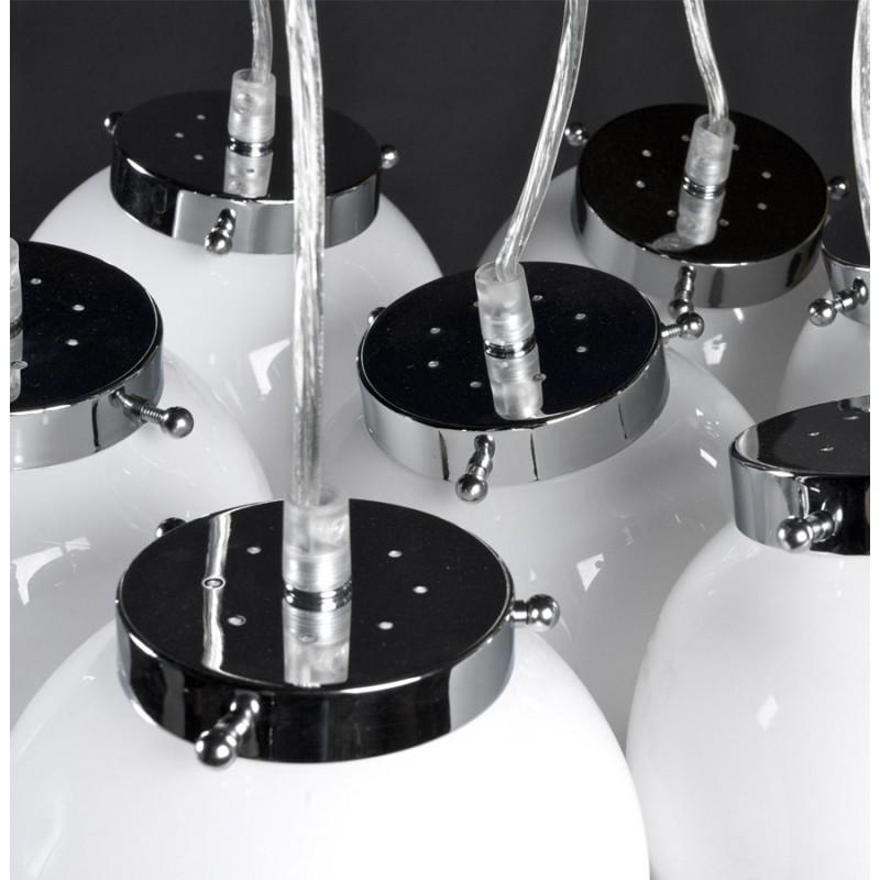 Design suspension lamp 8 balls ARTAMIE (white) metal - image 17252