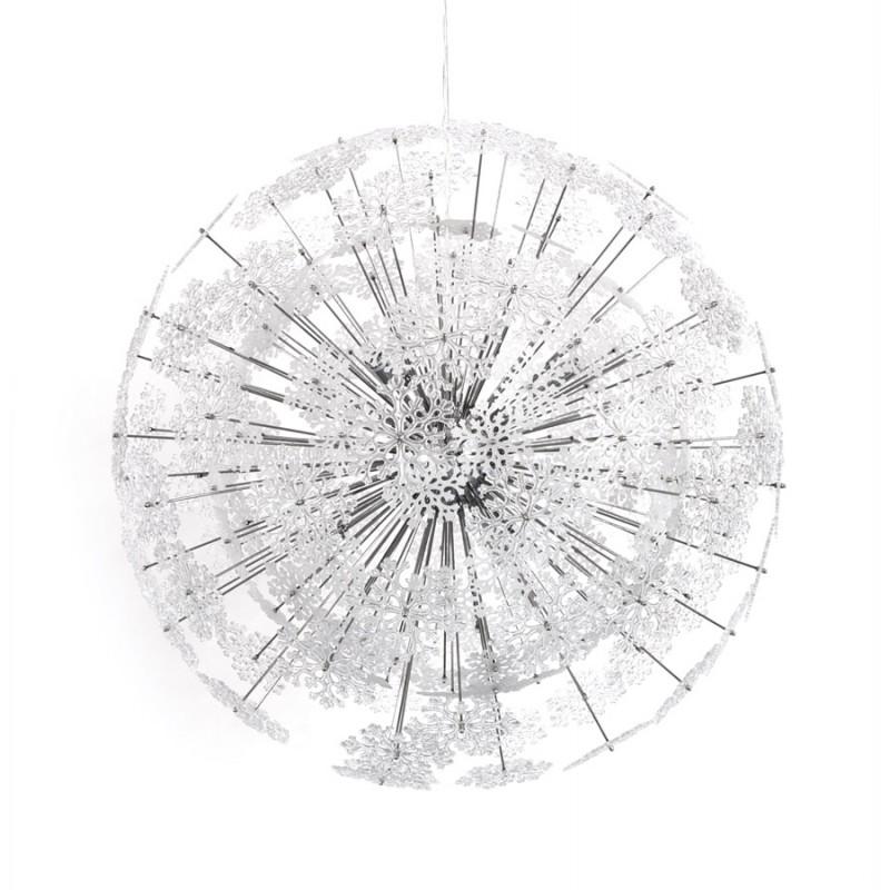 Lampe à suspension design ANABE en métal (chromé) - image 17272