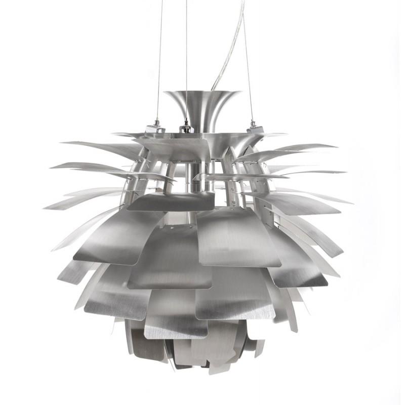 Lampe à suspension design AMYTIS en métal (argent) - image 17279