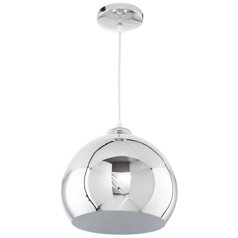 Lampe à suspension design ASTRILD en métal (chromé) - image 17286