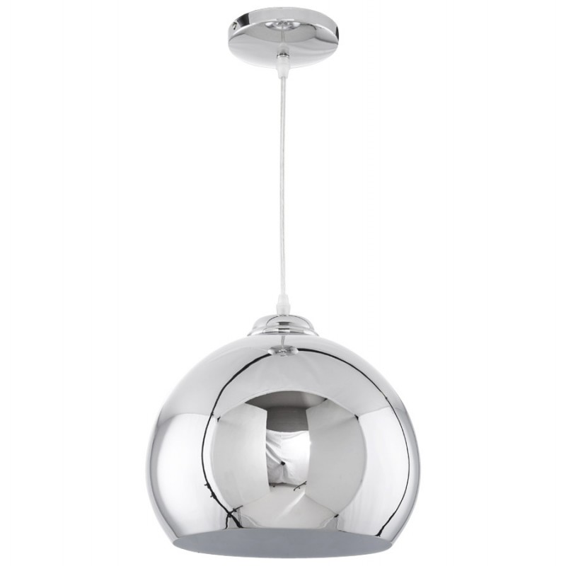 Lampe suspension design astrild en m tal chrom for Lampe suspension design