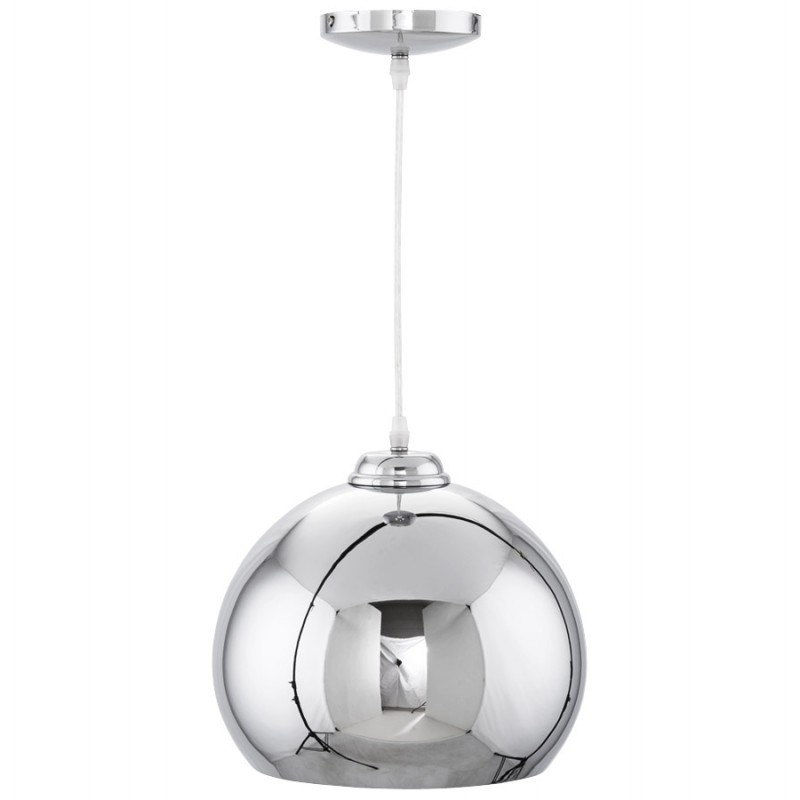 Lampe à suspension design ASTRILD en métal (chromé) - image 17288