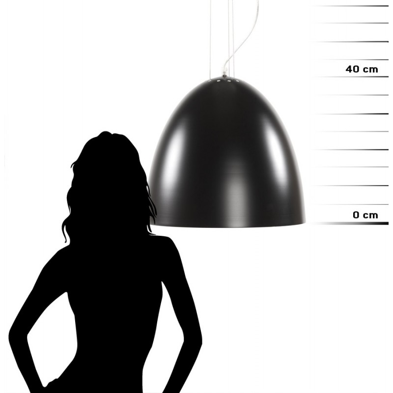 Lampada metallo design a sospensione BARBION (nero) - image 17300