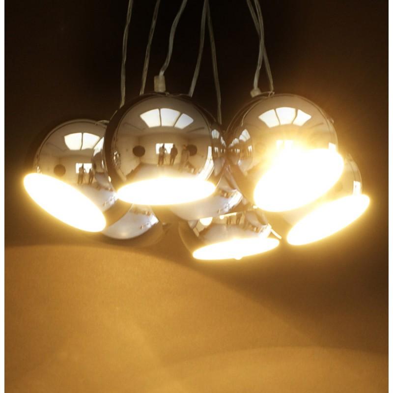 Lampe à suspension design BARE en métal (chromé) - image 17312