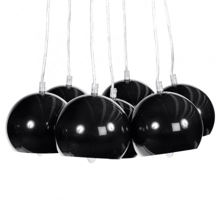 BARE design suspension metal lamp (black)